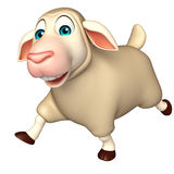 Personagem de banda desenhada running dos carneiros Fotos de Stock Royalty Free