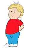 Personagem de banda desenhada triste de Little Boy Fotos de Stock
