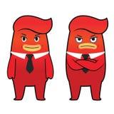 Personagem de banda desenhada vermelho do monstro Fotos de Stock