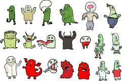 Personagens de banda desenhada ilustração stock