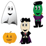 Personagens de banda desenhada de Halloween Foto de Stock Royalty Free