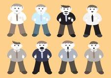 Personagens de banda desenhada do homem de negócios Imagens de Stock