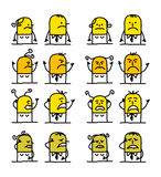 Personagens de banda desenhada - maldade Foto de Stock Royalty Free