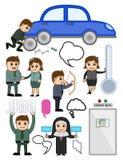 Personagens de banda desenhada relacionados com o mercado ilustração royalty free