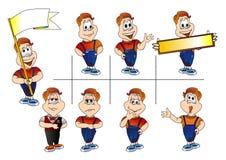 personagepresentation Vektor Illustrationer
