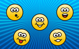 Personages emotions Royalty Free Stock Images