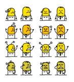 Personaggi dei cartoni animati - cattiveria Fotografia Stock Libera da Diritti