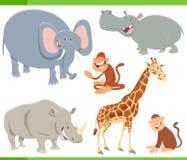 Personaggi dei cartoni animati degli animali selvatici messi Fotografie Stock
