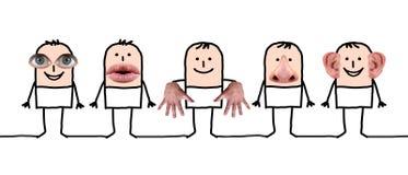 Personaggi dei cartoni animati e cinque sensi royalty illustrazione gratis