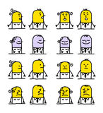 Personaggi dei cartoni animati - emozioni Fotografia Stock Libera da Diritti