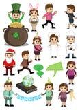 Personaggi dei cartoni animati per vari concetti illustrazione di stock
