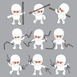 Personaggio dei cartoni animati bianco di ninja Fotografie Stock