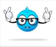 Personaggio dei cartoni animati blu illustrazione di stock