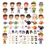 Personaggio dei cartoni animati con indifferenza vestito royalty illustrazione gratis
