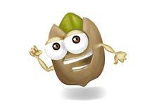 Personaggio dei cartoni animati corrente del pistacchio con due armi royalty illustrazione gratis