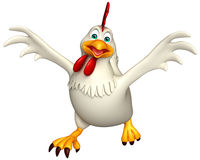 personaggio dei cartoni animati corrente della gallina Fotografia Stock Libera da Diritti