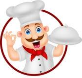 Personaggio dei cartoni animati del cuoco unico Immagini Stock Libere da Diritti