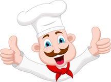 Personaggio dei cartoni animati del cuoco unico Immagine Stock Libera da Diritti