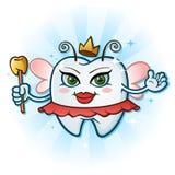 Personaggio dei cartoni animati del fatato di dente con l'antenna & la bacchetta Fotografie Stock Libere da Diritti