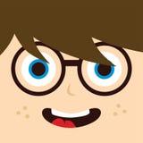 Personaggio dei cartoni animati del geek Immagini Stock Libere da Diritti