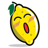 Personaggio dei cartoni animati del limone Fotografia Stock