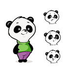 Personaggio dei cartoni animati del panda Fotografie Stock