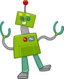 Personaggio dei cartoni animati del robot di fantasia Fotografie Stock