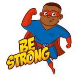 Personaggio dei cartoni animati del supereroe Immagine Stock Libera da Diritti