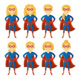 Personaggio dei cartoni animati del supereroe illustrazione di stock