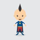 Personaggio dei cartoni animati del supereroe Fotografia Stock