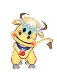 Personaggio dei cartoni animati del vitello Immagini Stock Libere da Diritti