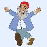 Personaggio dei cartoni animati dell'anziani georgiani Fotografia Stock Libera da Diritti