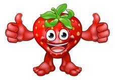 Personaggio dei cartoni animati della mascotte della fragola della frutta Fotografia Stock Libera da Diritti