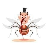 Personaggio dei cartoni animati della zanzara illustrazione