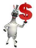 Personaggio dei cartoni animati della zebra Fotografia Stock