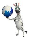 Personaggio dei cartoni animati della zebra Fotografie Stock