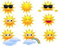 Personaggio dei cartoni animati di Sun Fotografia Stock Libera da Diritti