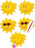 Personaggio dei cartoni animati di Sun Fotografia Stock
