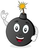 Personaggio dei cartoni animati divertente della bomba Fotografia Stock Libera da Diritti
