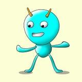 Personaggio dei cartoni animati divertente della formica Fotografie Stock Libere da Diritti