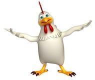 personaggio dei cartoni animati divertente della gallina Fotografia Stock Libera da Diritti