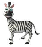 Personaggio dei cartoni animati divertente della zebra Fotografia Stock Libera da Diritti