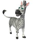 Personaggio dei cartoni animati divertente della zebra Immagine Stock