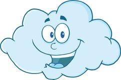 Personaggio dei cartoni animati felice della nuvola Fotografia Stock Libera da Diritti