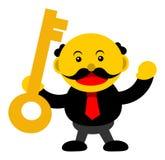 Personaggio dei cartoni animati grafico dell'illustrazione dell'uomo d'affari Immagini Stock