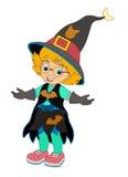 Personaggio dei cartoni animati - Halloween - illustrazione per la t Fotografia Stock
