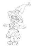 Personaggio dei cartoni animati - Halloween - illustrazione per la t Immagine Stock Libera da Diritti