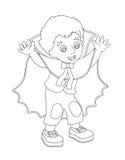 Personaggio dei cartoni animati - Halloween - illustrazione per la t Fotografie Stock Libere da Diritti