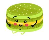 Personaggio dei cartoni animati isolato biscotto divertente illustrazione di stock