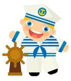 Personaggio dei cartoni animati - marinaio Fotografia Stock Libera da Diritti